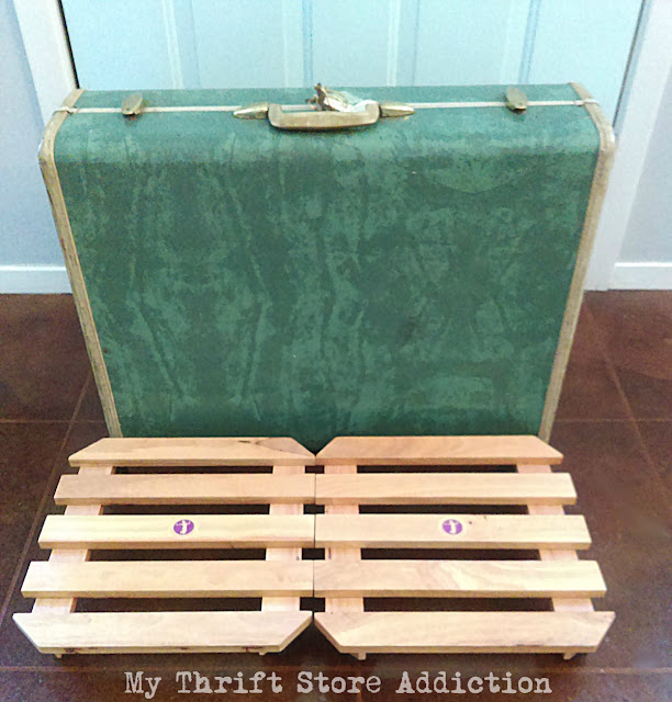 vintage Samsonite luggage as decorative storage