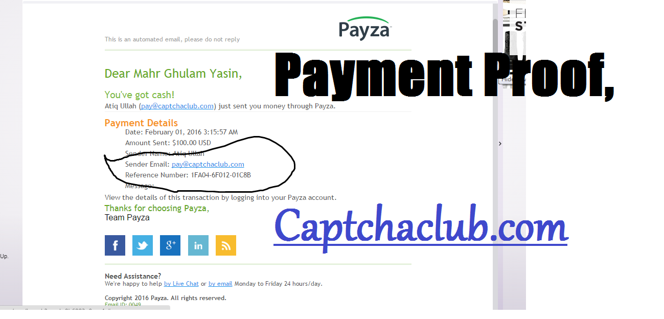 Captchaclub Payment Proof: Payment Proof of Captchaclub com