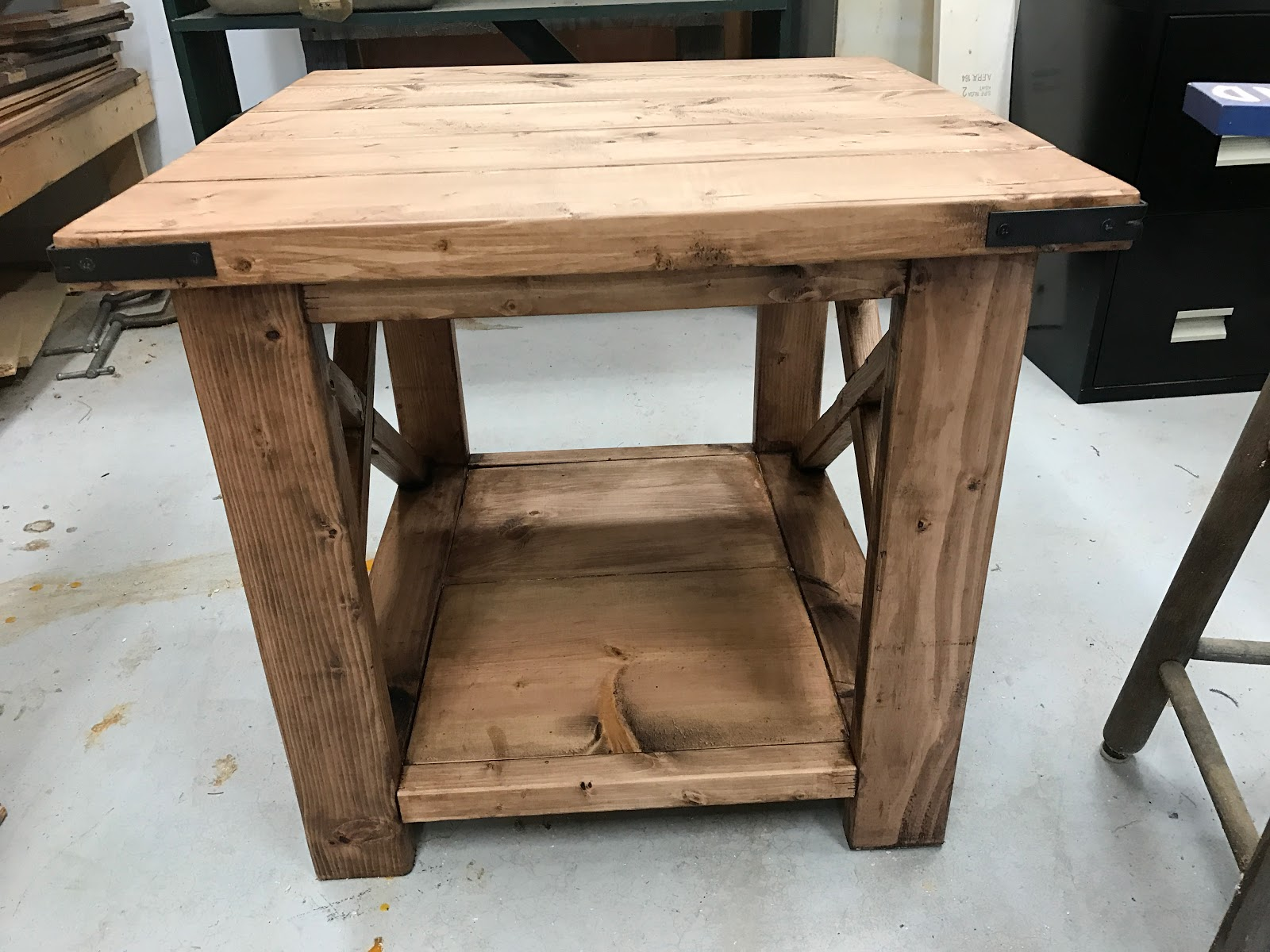 We Are Grown Ups Now! : DIY: Rustic X End Table