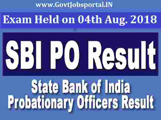 sbi po exam result 2018