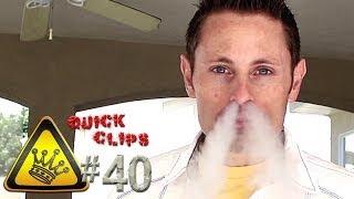 Божевільний трюк - дим валить з ніздрів!