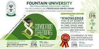 Fountain University 8th Convocation Ceremonies Program of Events 2018