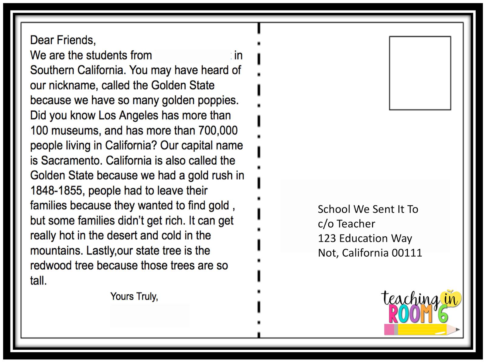how to write a postcard address side
