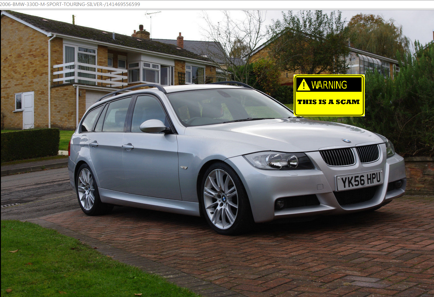 scam 2006 bmw 330d m sport touring silver yk56hpu ebay fraud yk56 hpu 12 nov 14. Black Bedroom Furniture Sets. Home Design Ideas