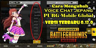 Cara Mengubah Voice Chat PUBG Mobile Versi Global 0.12.0 Ke Bahasa Jepang