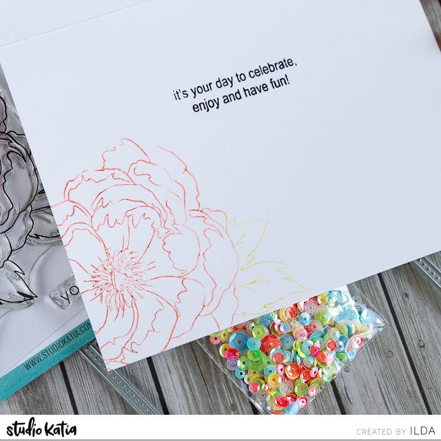 Layered Japanese Peony Best Birthday Ever Card by ilovedoingallthingscrafty.com