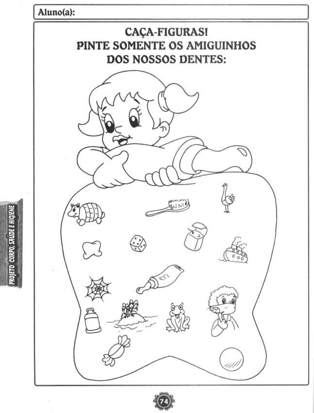 Ziek En Gezond Kleurplaat Bem Vindos Dentes