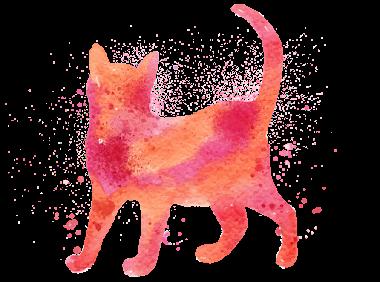 render gato silueta