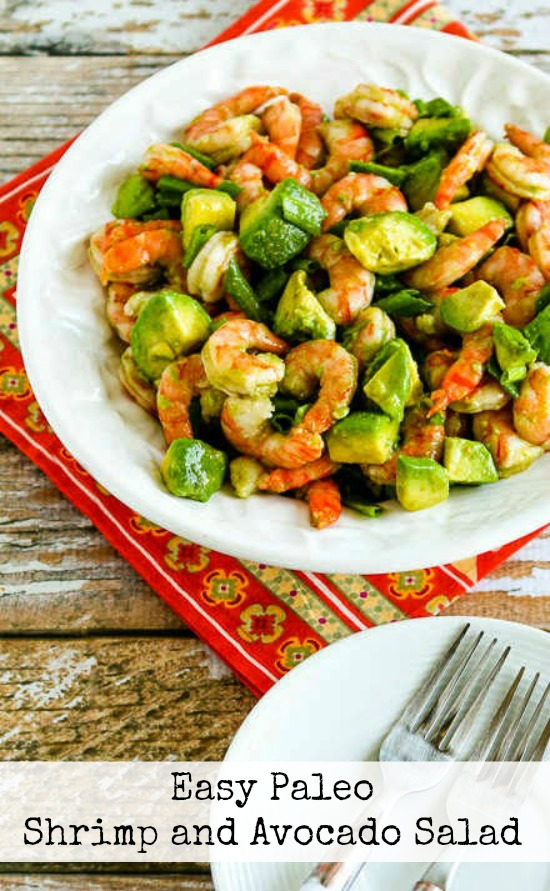 Easy Paleo Shrimp and Avocado Salad from Kalyn's Kitchen, featured for Low-Carb Recipe Love on Fridays (6-10-16) found on KalynsKitchen.com