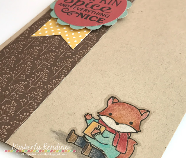 coffee lovers bloghop card by Kimberly Rendino | sugarpea designs | fall fox | handmade card | cardmaking | papercraft | fox | colored pencils