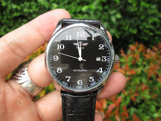 Winner JX005 Classic Automatic Mechanical Black Leather Strap