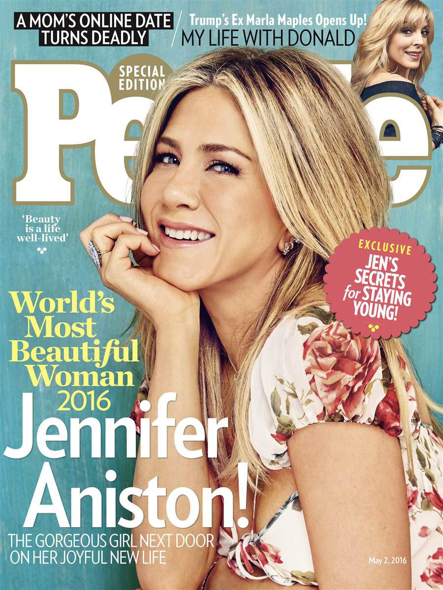 Beauty mags jennifer aniston people us may 2016 jennifer aniston in people us may 2016 issue publicscrutiny Gallery