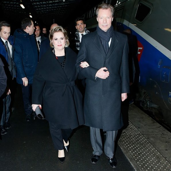 Grand Duke Henri and Grand Duchess Maria Teresa official visit to France upon invitation of French President Emmanuel Macron. Luxembourg's Ambassador to France Martine Schommer