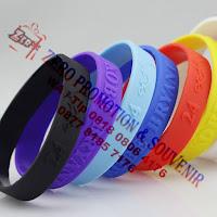 Gelang Karet Promosi / rubber wrist band Gelang tanpa sambungan