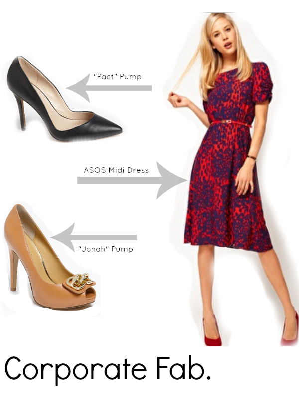 6200f2c2dabd Job Interview Outfit for a Corporate Office. ASOS Midi Dress ...