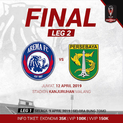Live Streaming Arema vs Persebaya Final Leg 2 Piala Presiden Indonesia 2019