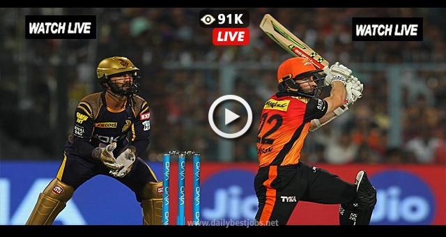 IPL 2018 Live Streaming SRH vs KKR LIVE Cricket Scores Playoff Match