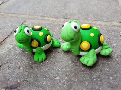 Calamite Fimo tartarughe