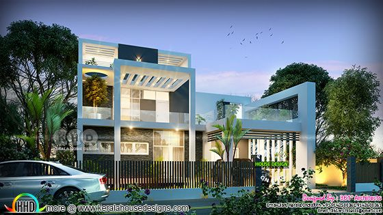 ₹49 lakhs cost estimated contemporary Kerala house plan