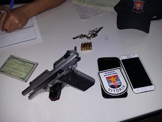 Guarda Civil Municipal de Vitória (ES) detém acusado de efetuar disparos em via pública