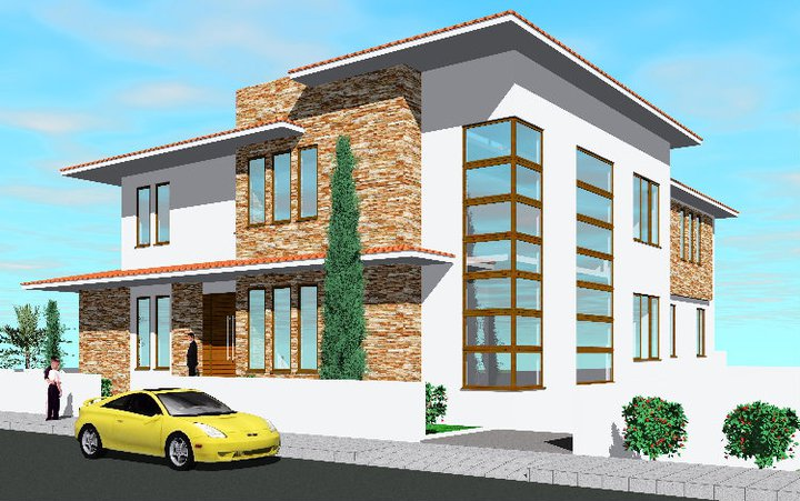 New home designs latest modern mediterranean home for Modern mediterranean homes