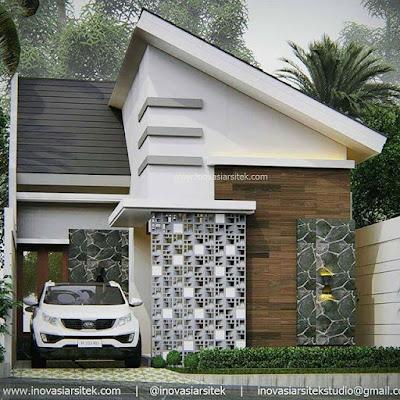 Desain Rumah Unik Atap Miring