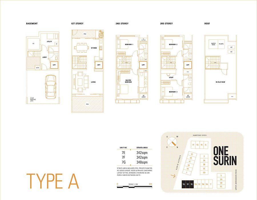 One Surin Floor Plan Type A