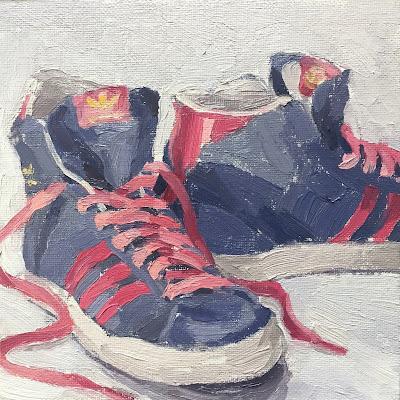 #51 'Adidas Boots' 6×6″