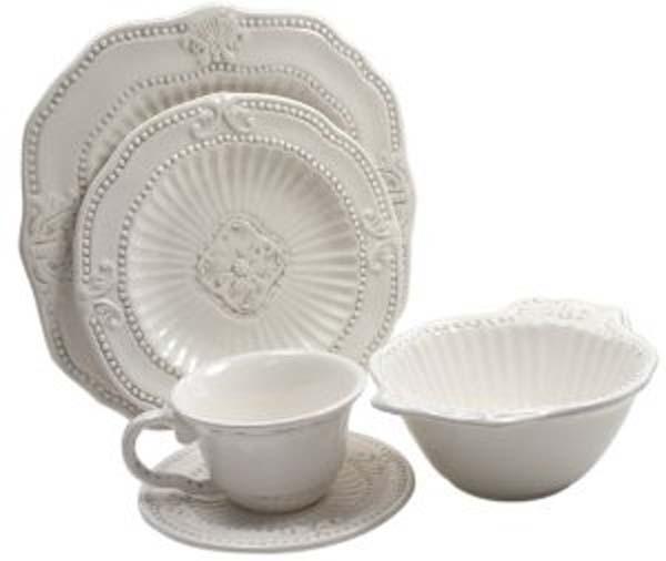 The Jay Companies 5286-20 20-Piece Baroque Dinnerware Set ...