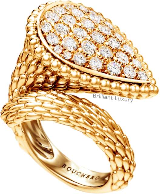 Brilliant Luxury♦Boucheron Paris Serpent Bohème large ring