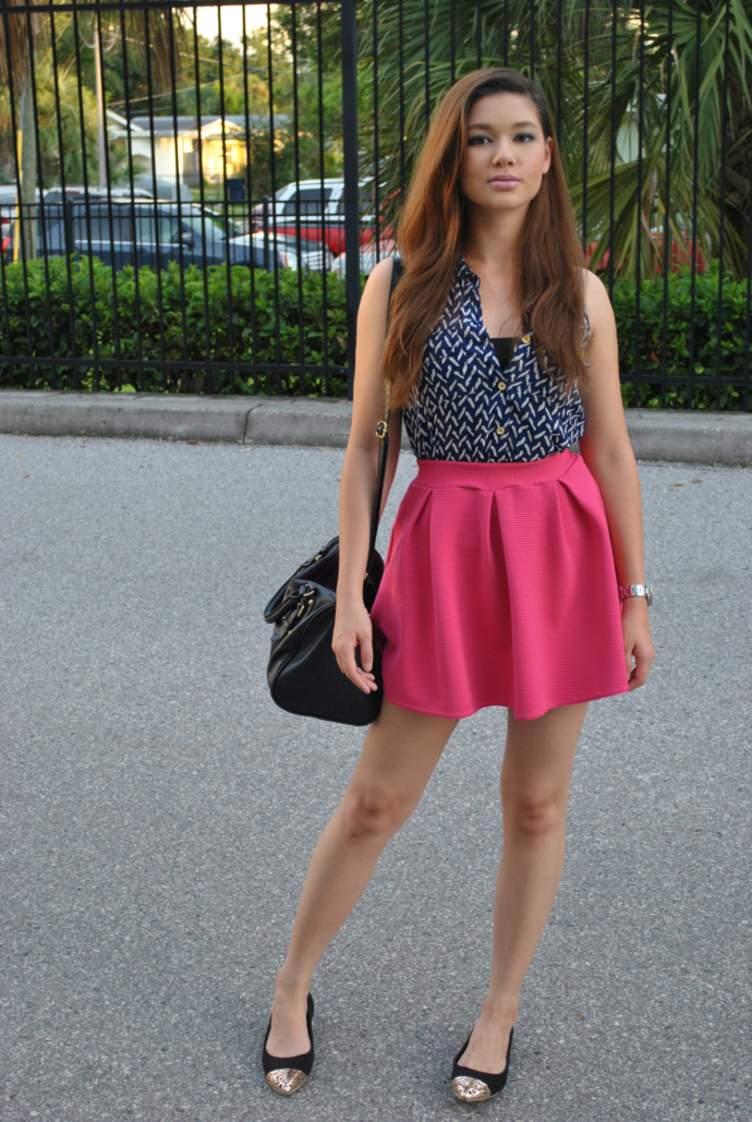 boohoo, button down, skater skirt, steve madden, charlotte russe, mart of china