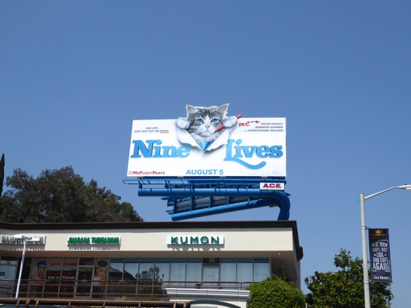 Nine Lives movie billboard
