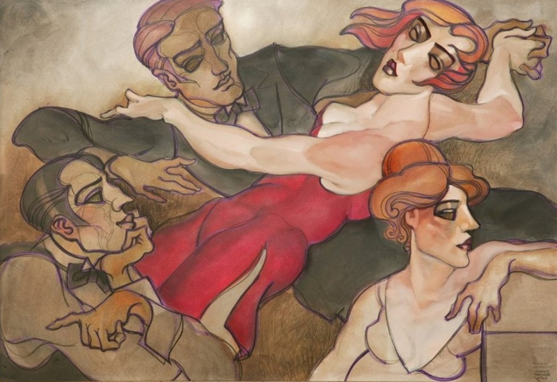 Juarez Machado 1941 Brasilian Art Déco painter - Tutt'Art@