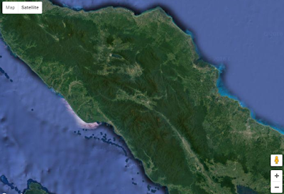 Tampilan basemap satelit google map