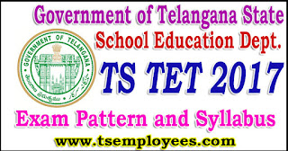 TS TET 2017 Exam Pattern Paper wise Marks and Syllabus