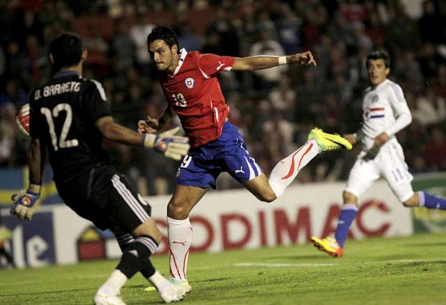 Chile y Paraguay en partido amistoso, 21 de diciembre de 2011