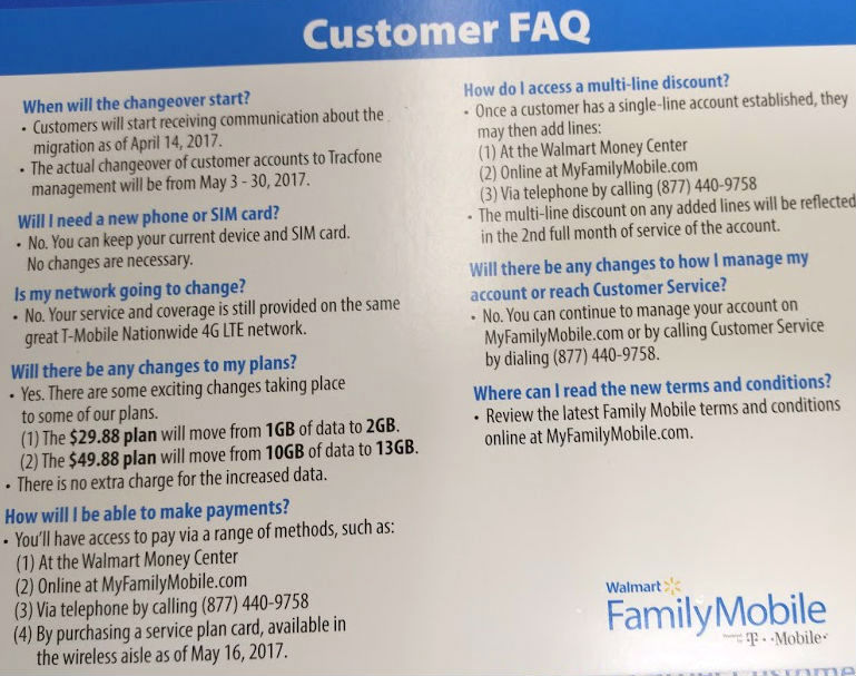 Walmart Family Mobile Adding More Data and Switching to Prepaid
