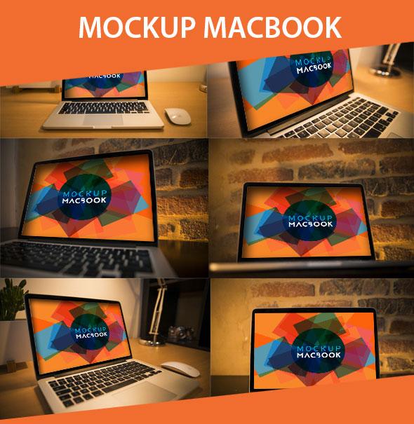 Free Mockup Macbook PSD