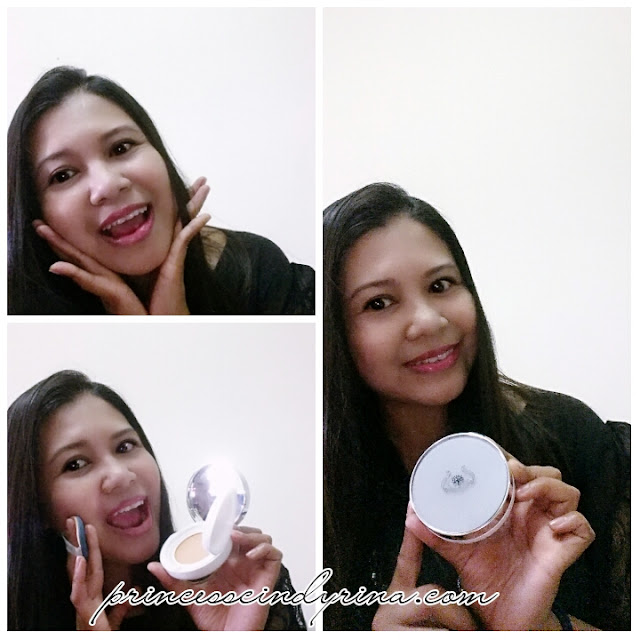 woman posing with skincare product
