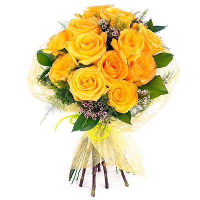 Ramo de novia amarillo