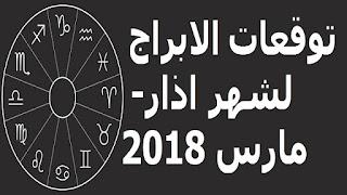 توقعات الابراج لشهر اذار- مارس 2018