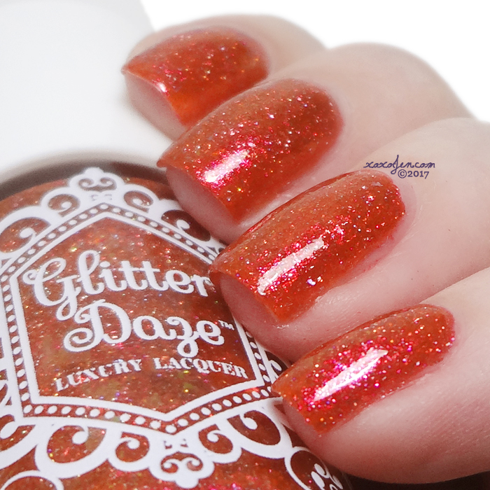 xoxoJen's swatch of Glitterdaze The Red Witch