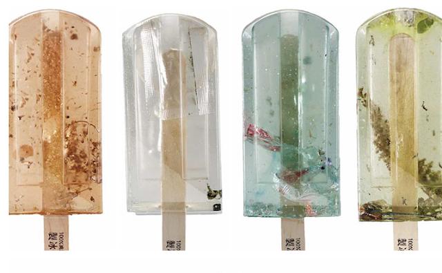Keren!! Foto Es Loli Yang Diambil Dari Sumber Air Tercemar Yang Berbeda
