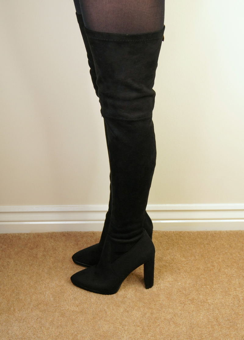 ego official autumn winter boots haul selyse over the knee thigh high suede effect boots
