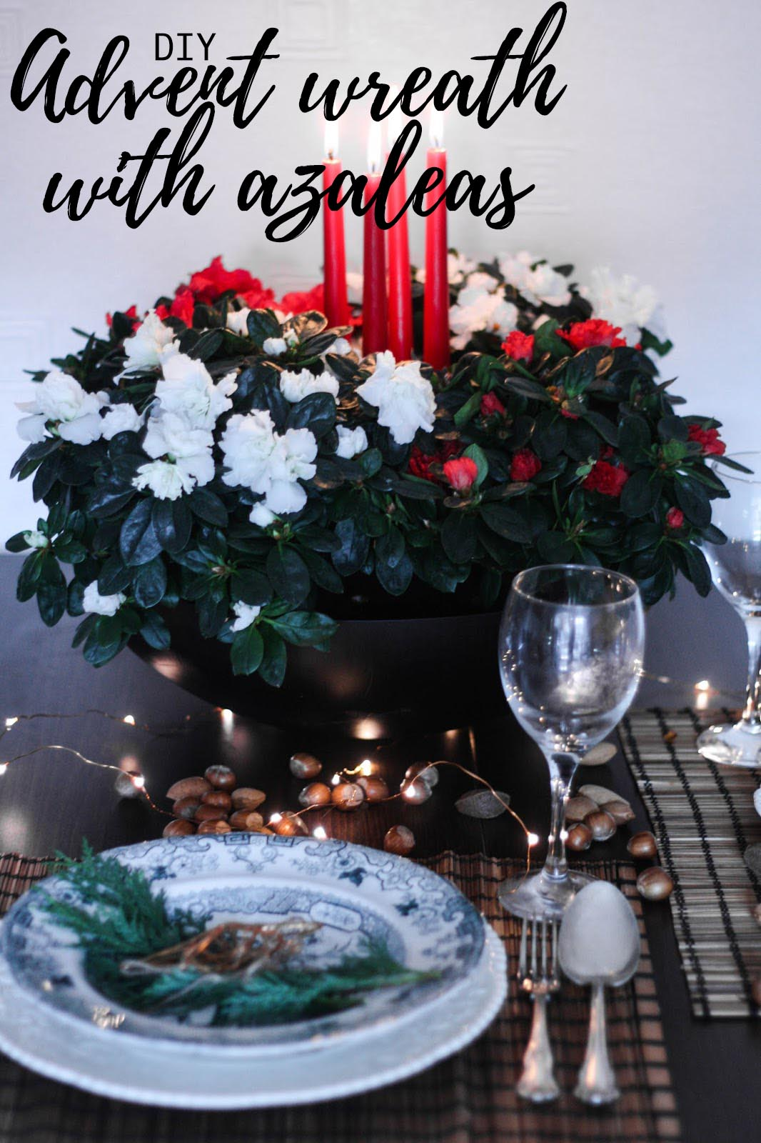Make your own beautiful advent wreath with azaleas