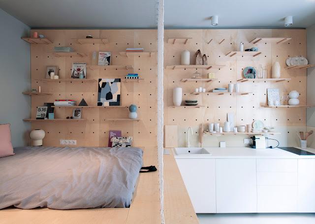 Amenajare modernă și practică într-o garsonieră de 30 m² din Budapesta