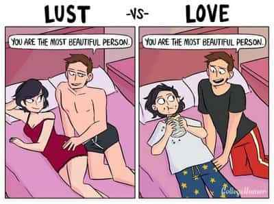 Funny Comic Illustrates The Differences Between Lust & Love