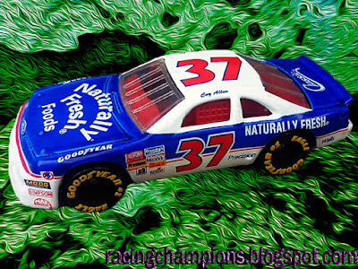 Loy Allen Coy #37 Naturally Fresh Foods Matchbox Racing Champions 1/64 NASCAR diecast blog 1993