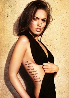 Tattoos That Cover The Beautiful Body Of Megan Fox The Cestrian