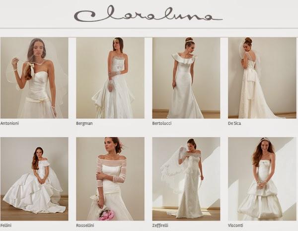 collezione sposa Claraluna 2014 e matrimoni a tema idee